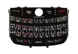 Русская клавиатура BlackBerry 8900 Curve (гравировка), Черный