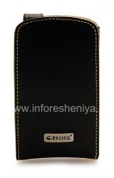 Фирменный кожаный чехол Krusell Orbit Flex Multidapt Leather Case для BlackBerry 8900 Curve, Черный