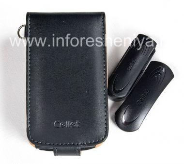 Купить Фирменный кожаный чехол c вертикально открывающейся крышкой и клипсой Cellet Executive Case для BlackBerry 8900 Curve