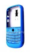 """Фотография 3 — Цветной корпус для BlackBerry 9000 Bold, Голубой Матовый, крышка """"Кожа"""""""