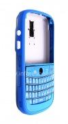 """Фотография 4 — Цветной корпус для BlackBerry 9000 Bold, Голубой Матовый, крышка """"Кожа"""""""