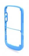 """Фотография 8 — Цветной корпус для BlackBerry 9000 Bold, Голубой Матовый, крышка """"Кожа"""""""