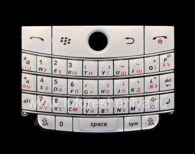 Купить Жемчужно-белая русская клавиатура BlackBerry 9000 Bold