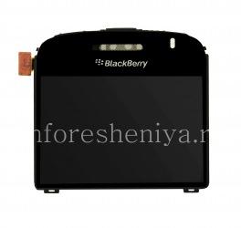 Оригинальный экран в сборке со стеклом для BlackBerry 9000 Bold, Черный, тип 001/004