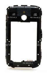 The middle part of the original case for the BlackBerry 9000 Bold, The black