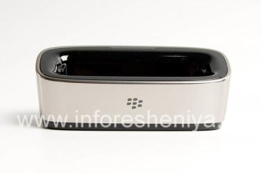 """Оригинальное настольное зарядное устройство """"Стакан"""" Charging Pod для BlackBerry 9000 Bold, Металлик"""