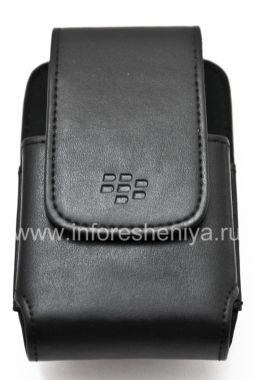 Купить Оригинальный кожаный чехол c клипсой прямоугольный Leather Swivel Holster для BlackBerry 9000 Bold