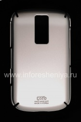 Firm cover plastic, amboze Cozip Snap on Slim for BlackBerry 9000 Bold, silver