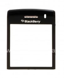 Оригинальное стекло на экран с металлическим креплением и сеткой динамика для BlackBerry 9100/9105 Pearl 3G, Черный