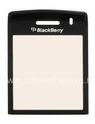 Das Originalglas auf dem Bildschirm, ohne das Metallgitter und Fixieren der Lautsprecher BlackBerry 9100 / 9105 Pearl 3G, schwarz