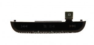 Верхняя часть корпуса с медиа-кнопками для BlackBerry 9100/9105 Pearl 3G, Черный