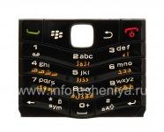 Оригинальная клавиатура BlackBerry 9105 Pearl 3G другие языки, Черный
