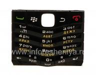 Русская клавиатура BlackBerry 9105 Pearl 3G (копия), Черный