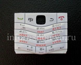 Белая русская клавиатура BlackBerry 9105 Pearl 3G, Белый (Pearl White)