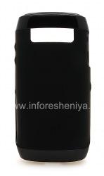原来的硅胶套有塑料轮圈硬壳和皮肤的BlackBerry 9100 / 9105 Pearl 3G, 黑/黑(黑/黑)