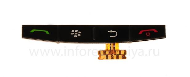 Keyboard asli untuk BlackBerry 9500 / 9530 Badai, hitam