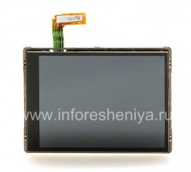 Оригинальный экран в сборке для BlackBerry 9500/9530 Storm, Черный, шлейф Зеленый
