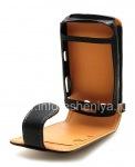 Фирменный кожаный чехол с вертикально открывающейся крышкой Cellet Executive Case для BlackBerry 9500/9530 Storm, Черный/ Коричневый