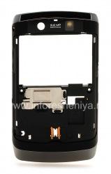 Ободок с элементами корпуса для BlackBerry 9520/9550 Storm2, Темный металлик/Черный