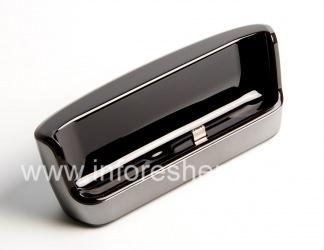 """Оригинальное настольное зарядное устройство """"Стакан"""" Charging Pod для BlackBerry 9520/9550 Storm2, Металлик"""