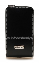 Фирменный кожаный чехол Krusell Orbit Flex Multidapt Leather Case для BlackBerry 9520/9550 Storm2, Черный (Black)