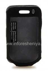 Фирменный кожаный чехол Krusell Cabriolet Multidapt Leather Case для BlackBerry 9520/9550 Storm2, Черный (Black)