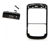 Ободок цветной с верхней частью и U-cover для BlackBerry 9630 Tour, Черный