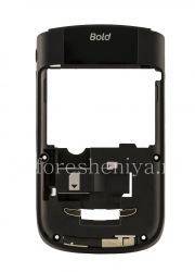 La partie centrale du corps d'origine avec tous les éléments sans une ouverture de la caméra pour BlackBerry 9630/9650 Tour, noir