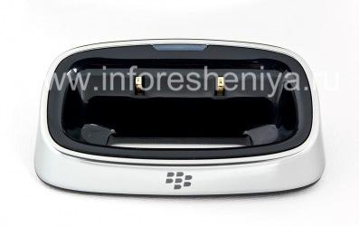 """Original-Tischladestation """"Glass"""" Charging Pod für Blackberry 9630/9650 Tour / Bold, Metallic"""