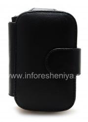 Фирменный кожаный чехол горизонтально открывающийся Smartphone Experts Book Case для BlackBerry 9700/9780 Bold, Черный (Black)
