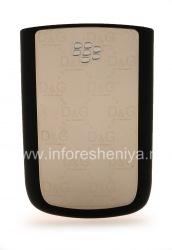 حصري الغلاف الخلفي للبلاك بيري 9700/9780 Bold, المعادن / البلاستيك والفضة D & G