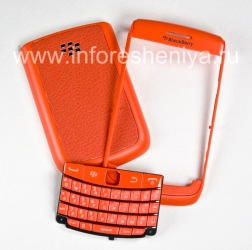 "Case de couleur pour BlackBerry 9700/9780 Bold, Matt orange, Cover ""peau"""