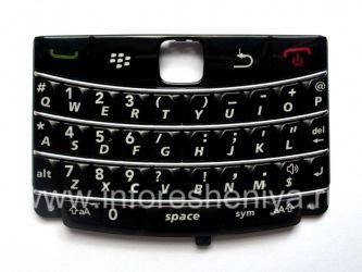 El teclado original Inglés para BlackBerry 9700/9780 Bold, Negro con franjas de luz