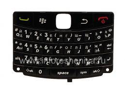 Русская клавиатура BlackBerry 9700/9780 Bold (гравировка), Черный с темными полосками