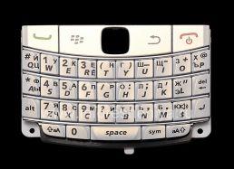 Русская клавиатура BlackBerry 9700/9780 Bold (гравировка), Белый (Pearl White)