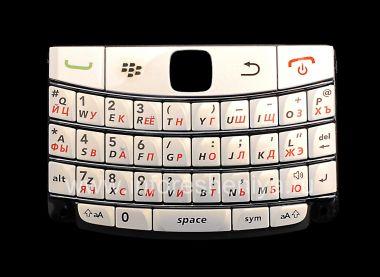 Купить Белая русская клавиатура с темными полосками BlackBerry 9700/9780 Bold