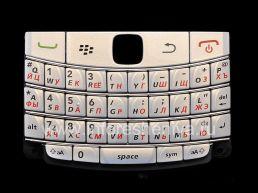 Белая русская клавиатура BlackBerry 9700/9780 Bold, Белый (Pearl-white)