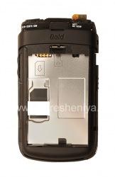 La partie centrale du corps d'origine, sans trou pour la caméra pour BlackBerry 9700/9780 Bold, Noir