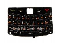 Русская клавиатура BlackBerry 9780 Bold с толстыми буквами, Черный с темными полосками