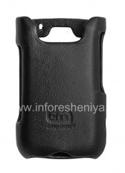 Фирменный кожаный чехол Case-Mate Premium Leather Signature для BlackBerry 9700/9780 Bold, Черный (Black)
