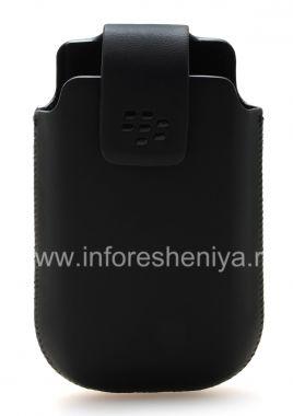 Купить Оригинальный кожаный чехол матовый с клипсой для BlackBerry 9700/9780 Bold