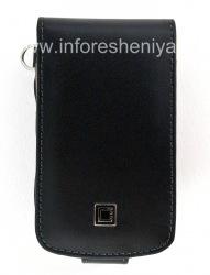 Фирменный кожаный чехол с вертикально открывающейся крышкой Cellet Executive Case для BlackBerry 9700/9780 Bold, Черный/ Коричневый