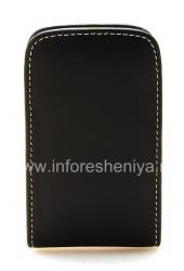 Фирменный кожаный чехол-карман ручной работы Monaco Vertical Pouch Type Leather Case для BlackBerry 9700/9780 Bold, Черный (Black)