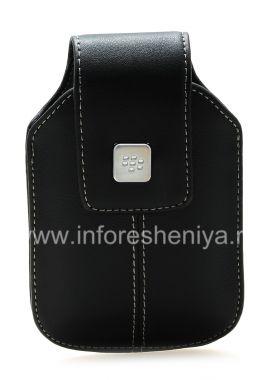 Купить Кожаный чехол с клипсой и металлической биркой для BlackBerry