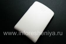 Кожаный чехол-карман (копия) для BlackBerry, Белый (White)