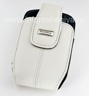 Купить Оригинальный кожаный чехол с клипсой и металлической биркой Leather Holster with Swivel Belt Clip для BlackBerry