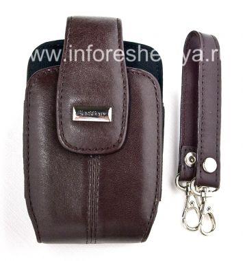 Купить Оригинальный кожаный чехол с ремешком и металлической биркой Leather Tote для BlackBerry