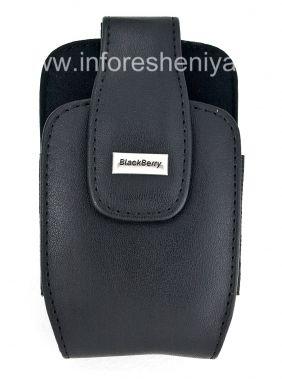 """Купить Оригинальный кожаный чехол с клипсой и металлической биркой """"BlackBerry"""" Leather Holster with Swivel Belt Clip для BlackBerry"""