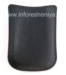 Оригинальный кожаный чехол-карман Synthetic Pocket Pouch для BlackBerry, Черный (Black)