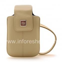 Оригинальный кожаный чехол-сумка Leather Tote для BlackBerry, Бежевый (Sandstone)